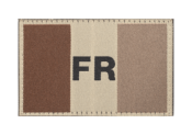 France Flag Patch - Sable